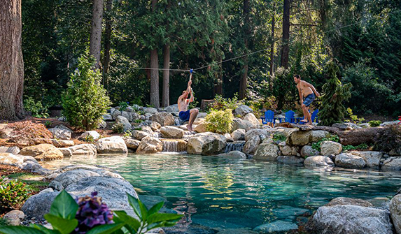 recreational swimming pond installations